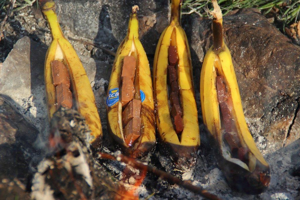 Banane vom Grill - schmeckt hervorragend