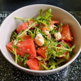 Rezept Wassermelone-Feta-Rucola-Salat